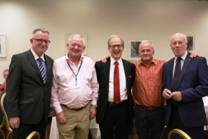 Mark O'Neill , (CEO Canadian Museum of History); Pat O'Callaghan, Chair of the D'Arcy Mcgee Foundation; Anthony Russell, Exhibitor Director; Tommy Fegan, Project Manager; Loyola Hearn, Former Canadian Ambassador to Ireland.